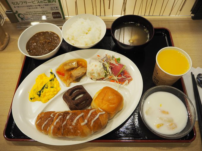 嬉しい無料朝食付き!
