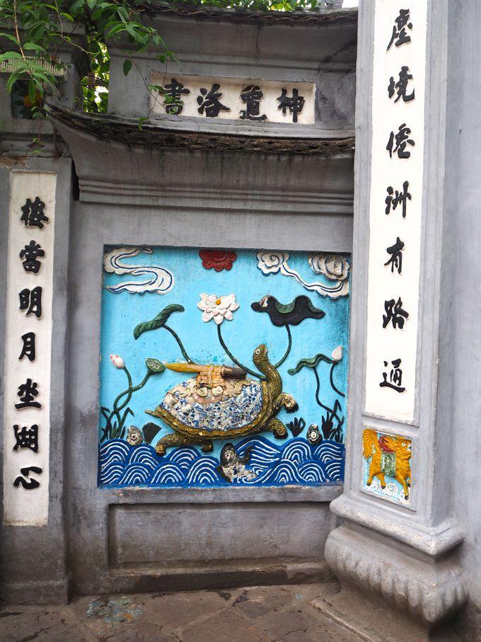 玉山祠は「元」に勝利した英雄と巨大亀が祀られるお寺