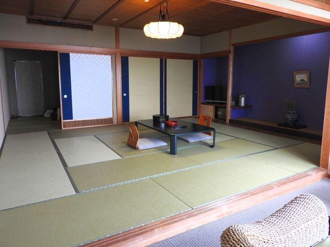 アジアンテイストの館内と和室の寛ぎ