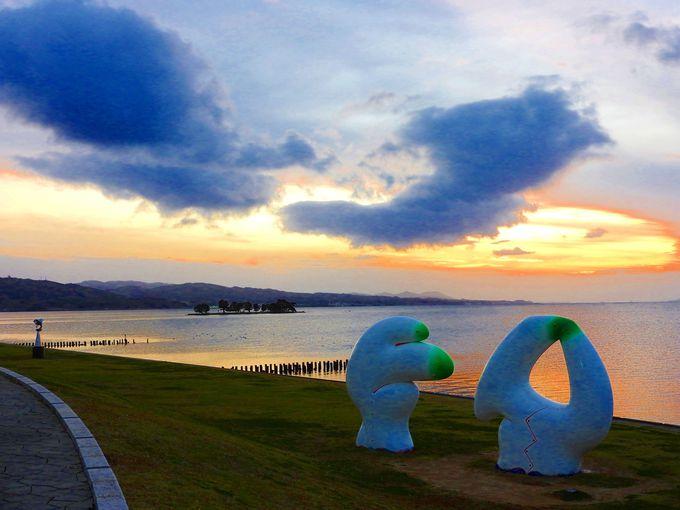 島根県立美術館から宍道湖夕日スポットへ