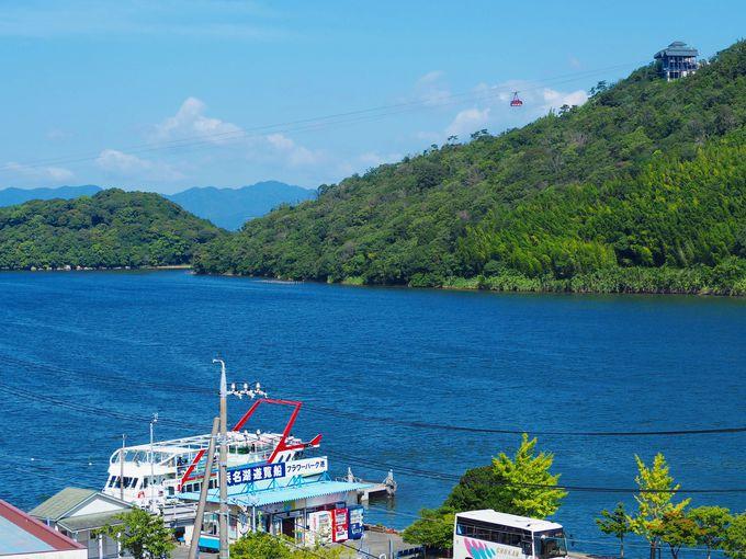 部屋から浜名湖舘山寺の絶景が楽しめる