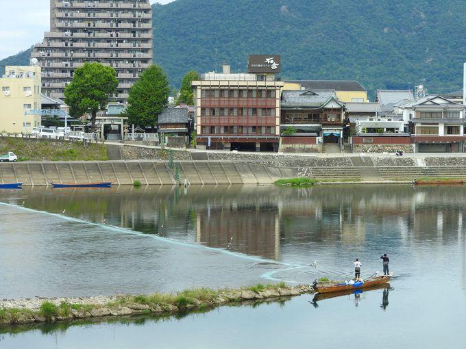 長良川プロムナードを散策しよう、足湯も!