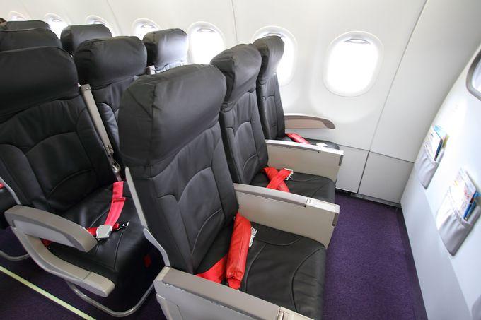 新しい機材を使用!機内はピカピカで快適な旅