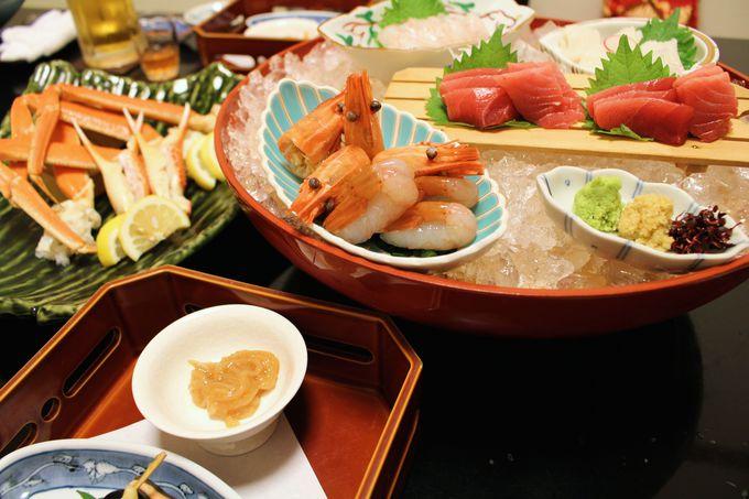お食事処「漁火亭」で新鮮な海の幸を