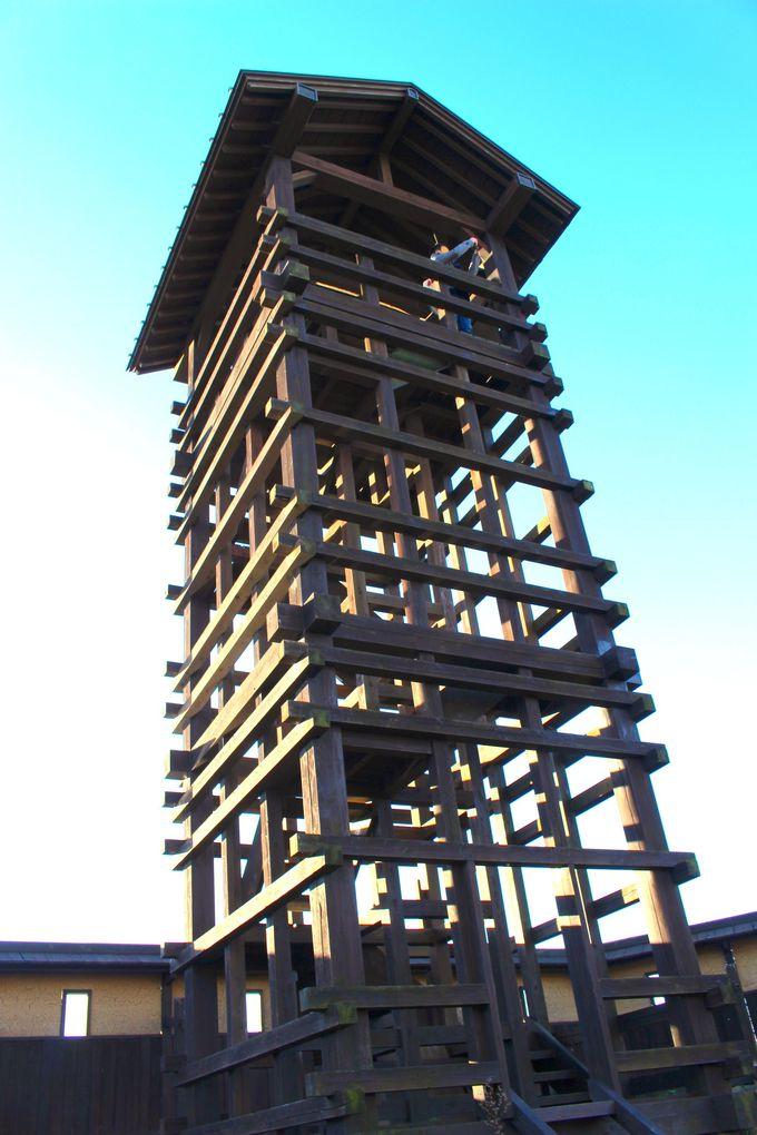 復元された「井楼矢倉」