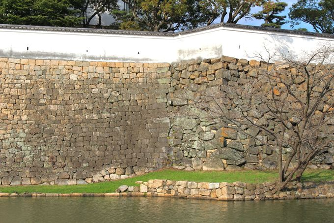 萌えポイント(1)岸和田城で見られる3種の石垣