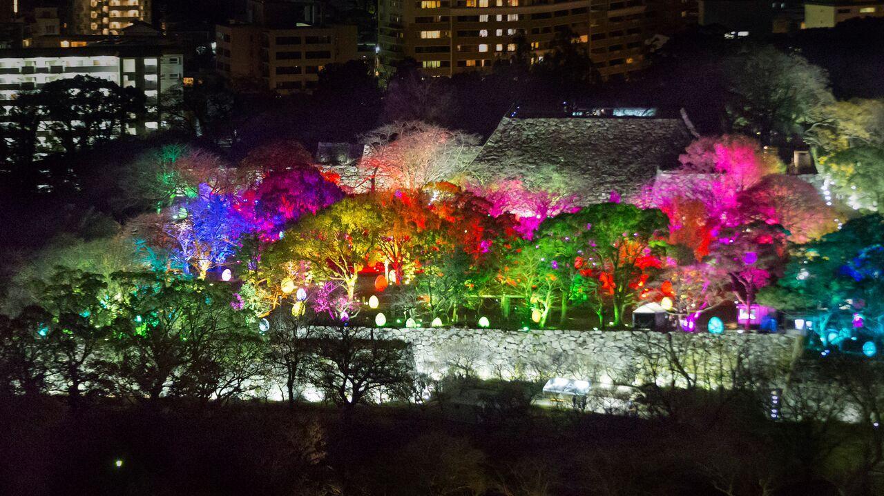 チームラボ×福岡城 光の祭