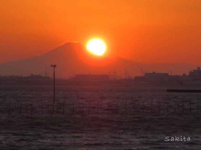 船橋市「三番瀬」はカメラマンが集うダイヤモンド富士の名所