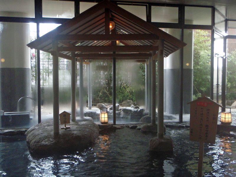 有名建築家デザインの高級感と広々した内湯「道後館」