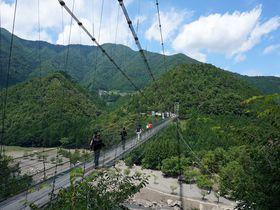 大自然で楽しむ絶景と絶叫と美食!奈良県十津川村「谷瀬の吊り橋」|奈良県|トラベルjp<たびねす>