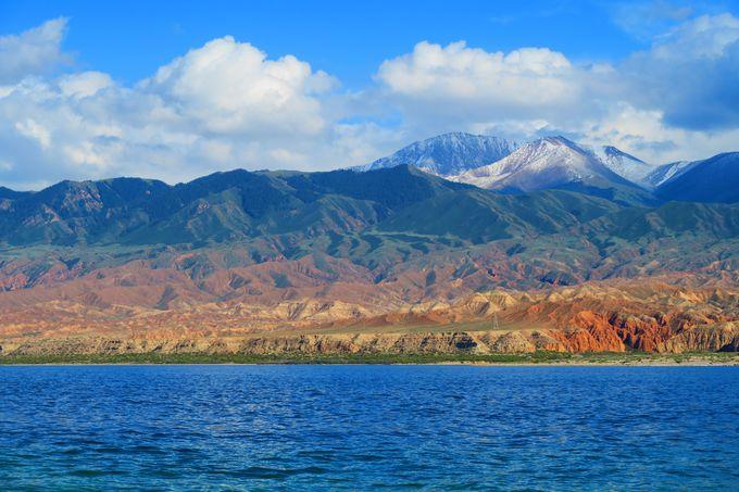 湖で見られる絶景