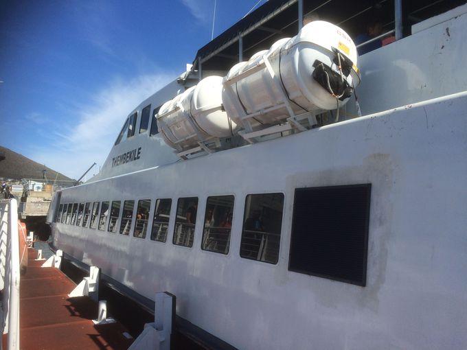 ロベン島へはフェリーで行くことができる。