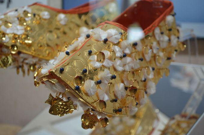 金銅製飾履(復元品)
