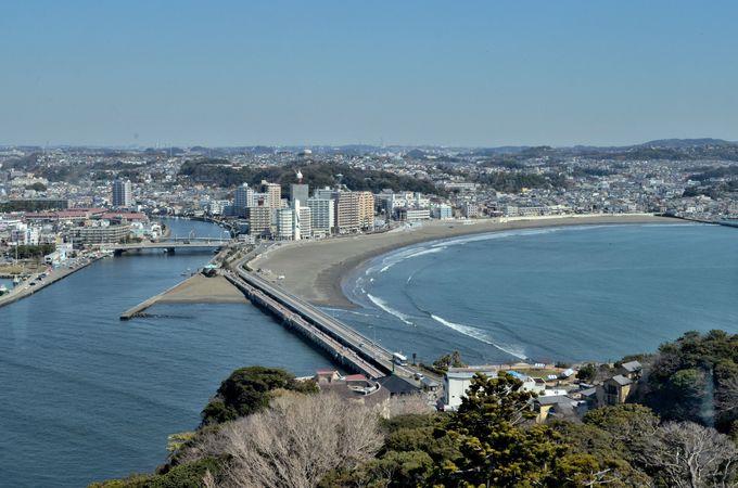 島の頂上で周囲を満喫〜江ノ島は龍が住む場所