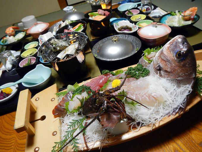 お宿でゆっくり海鮮料理