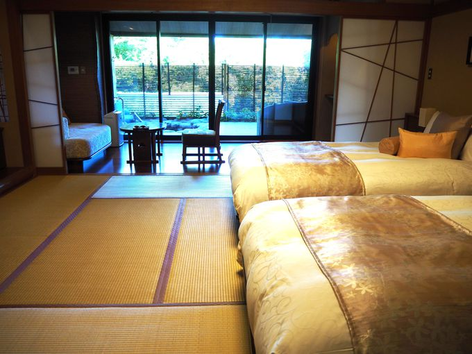 おすすめは、露天風呂付きの和洋室