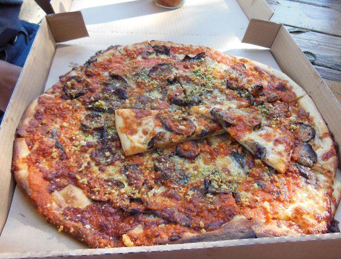 秋には秋のピザ