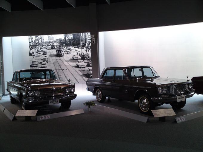 博物館3階は、往年の国産名車が並ぶ大人がわくわくするエリアです