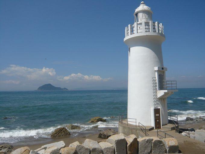 伊良湖岬の見どころのひとつ、白亜の「伊良湖岬灯台」