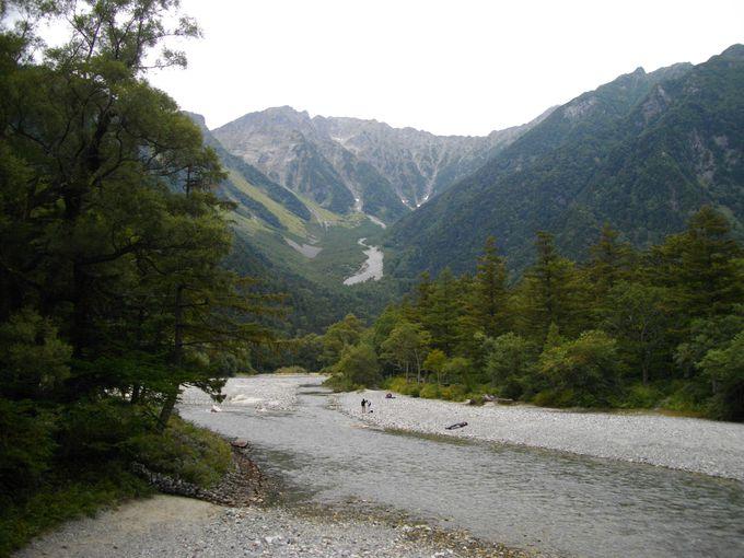 自然探勝路は梓川コースと林間コースに分かれます