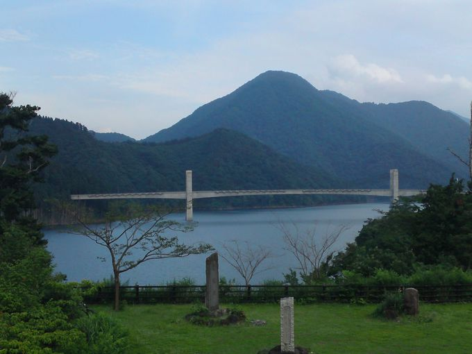 徳山湖を横断する「徳之山八徳橋」も必見!