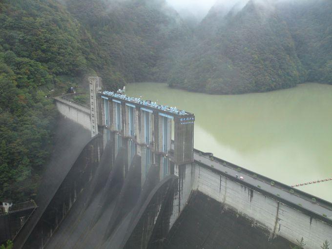 日本第9位、高さ155.5メートルの重力式コンクリートダム