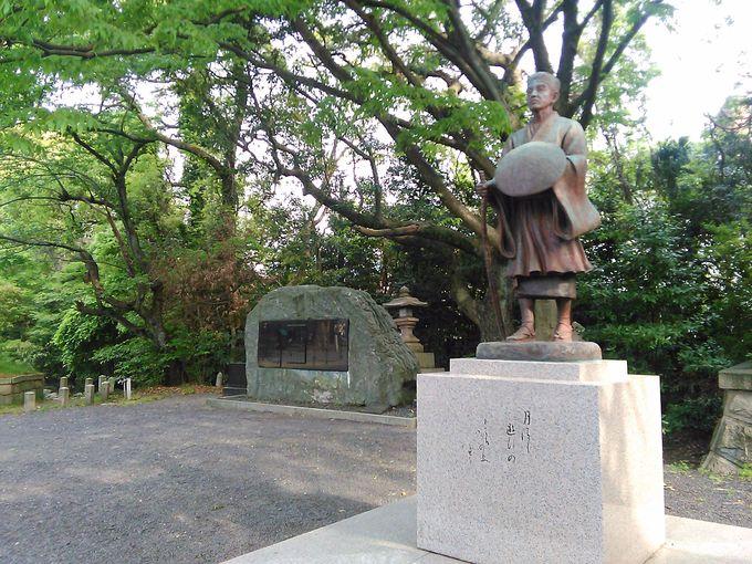 「氣比神宮」の境内には松尾芭蕉の句碑もあります