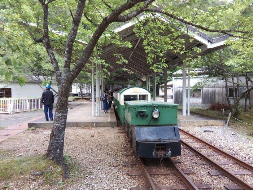 和歌山県から奈良県を経由して三重県「湯ノ口温泉」のトロッコに乗車