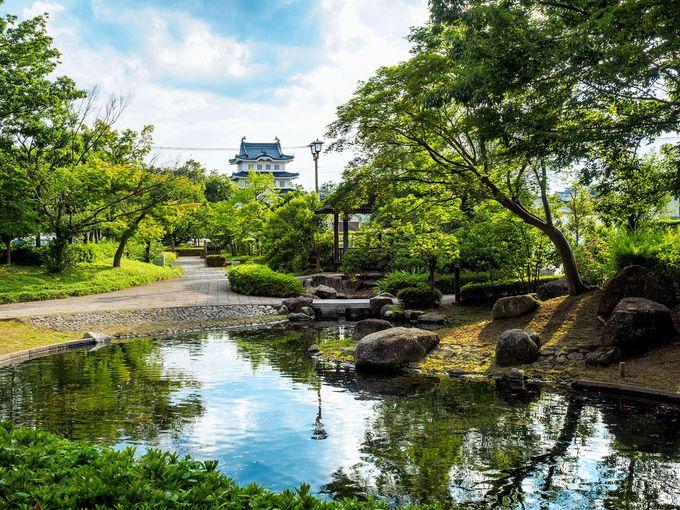 忍城址公園と行田市郷土博物館