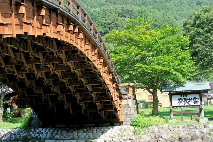 奈良井宿の玄関口「木曽の大橋」