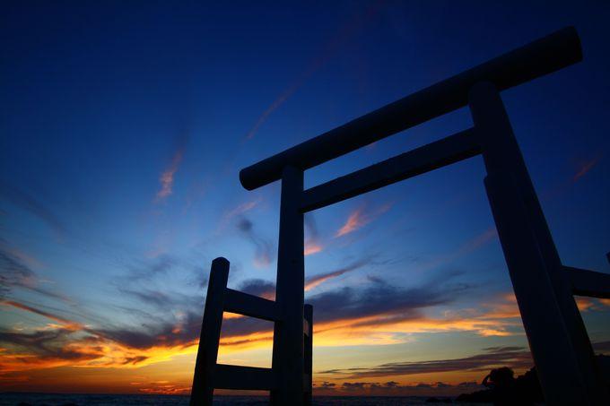 桜井二見ヶ浦の夕陽は沈んでももう少し待とう!シャッターチャンスまだあります!