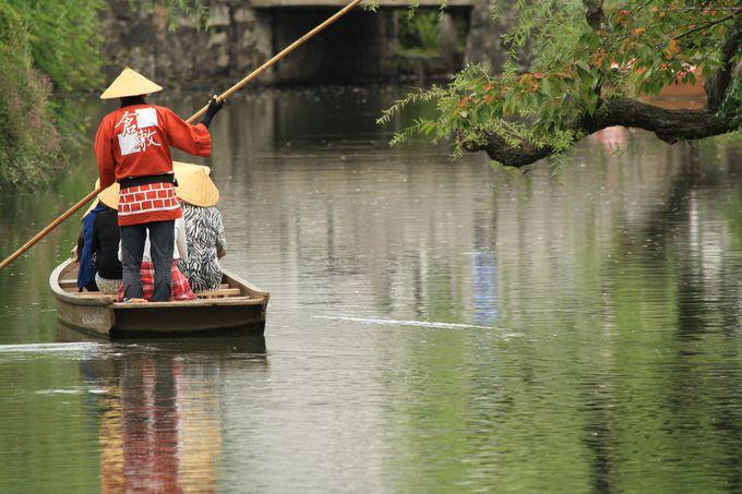 情緒たっぷり!倉敷といえばやはり倉敷川に浮かぶ舟