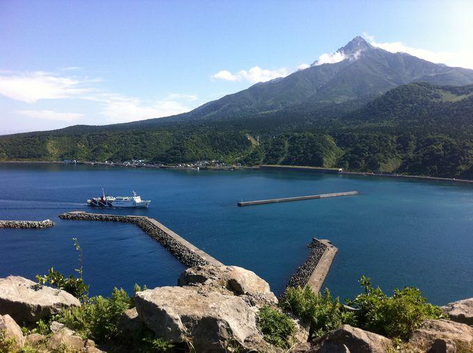 利尻島の自然景観