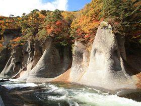 国内でも希少な見下ろす滝!「吹割の滝」は群馬の名紅葉スポット|群馬県|トラベルjp<たびねす>