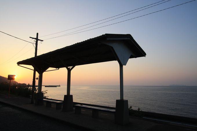 下灘駅をさらに魅力的にする時間帯