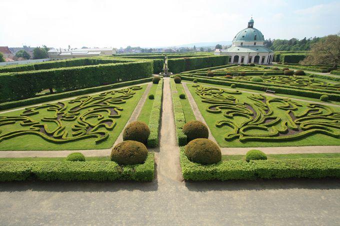 ユネスコ世界遺産に登録された庭園が自慢の「クロムニェジーシュ」
