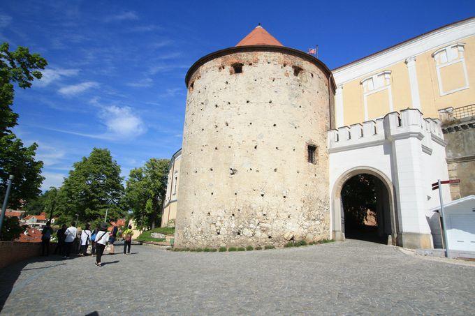 町のシンボル的存在、ミクロフ城