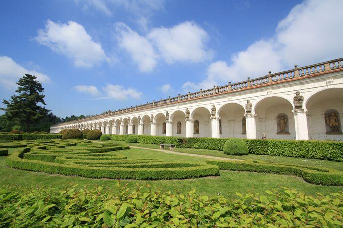 緑溢れる世界遺産の庭園
