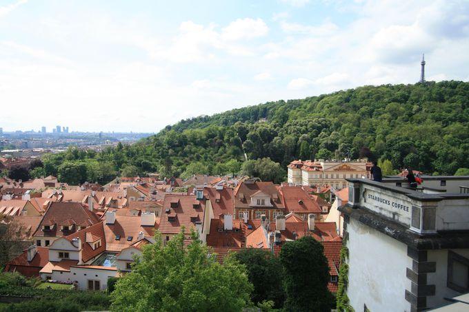 プラハの町を一望!できるスタバ