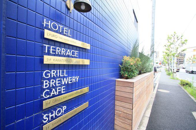1階はホテルフロント&ショップ