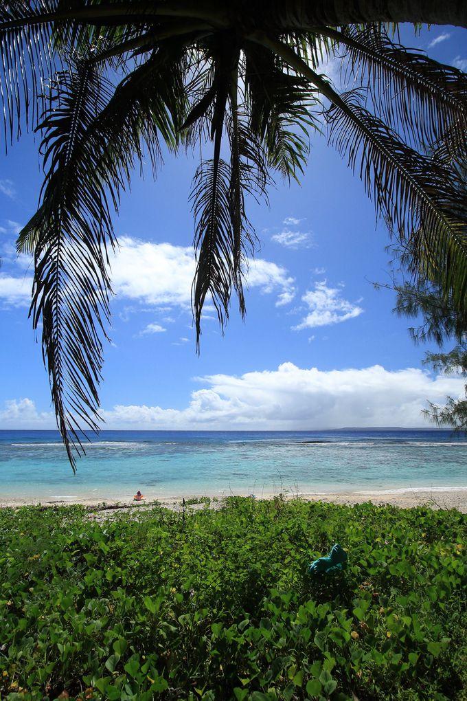 島南部にはキレイなビーチが並ぶ