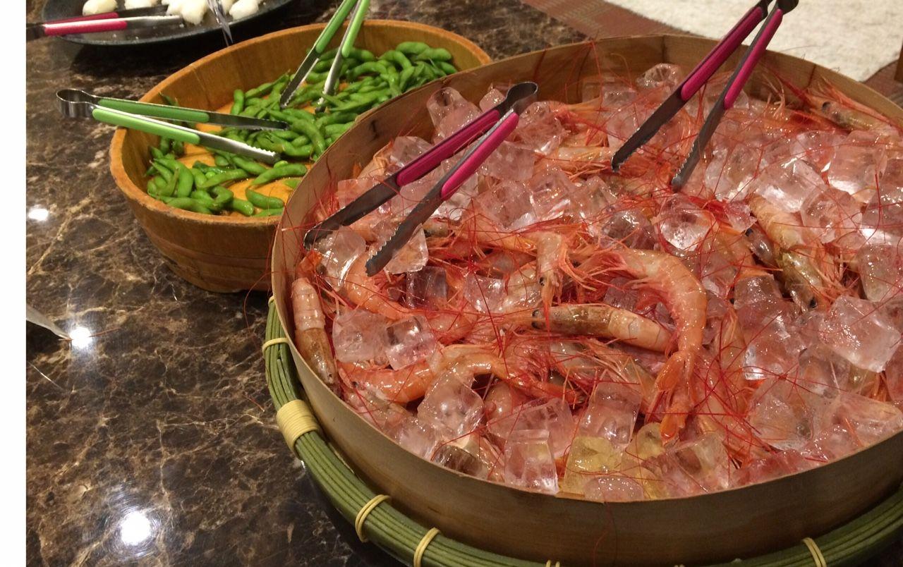 目玉は新鮮な海鮮。宴会場で飲み・食べ放題