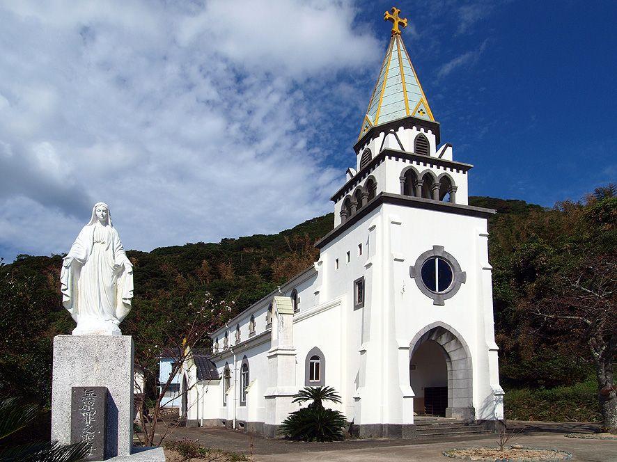 禁教令が解かれた後に久賀島に建てられた信仰の証「浜脇教会」