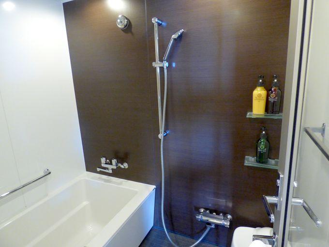 大きく日本仕様のバスルームは使いやすくて、とても綺麗で清潔感あり