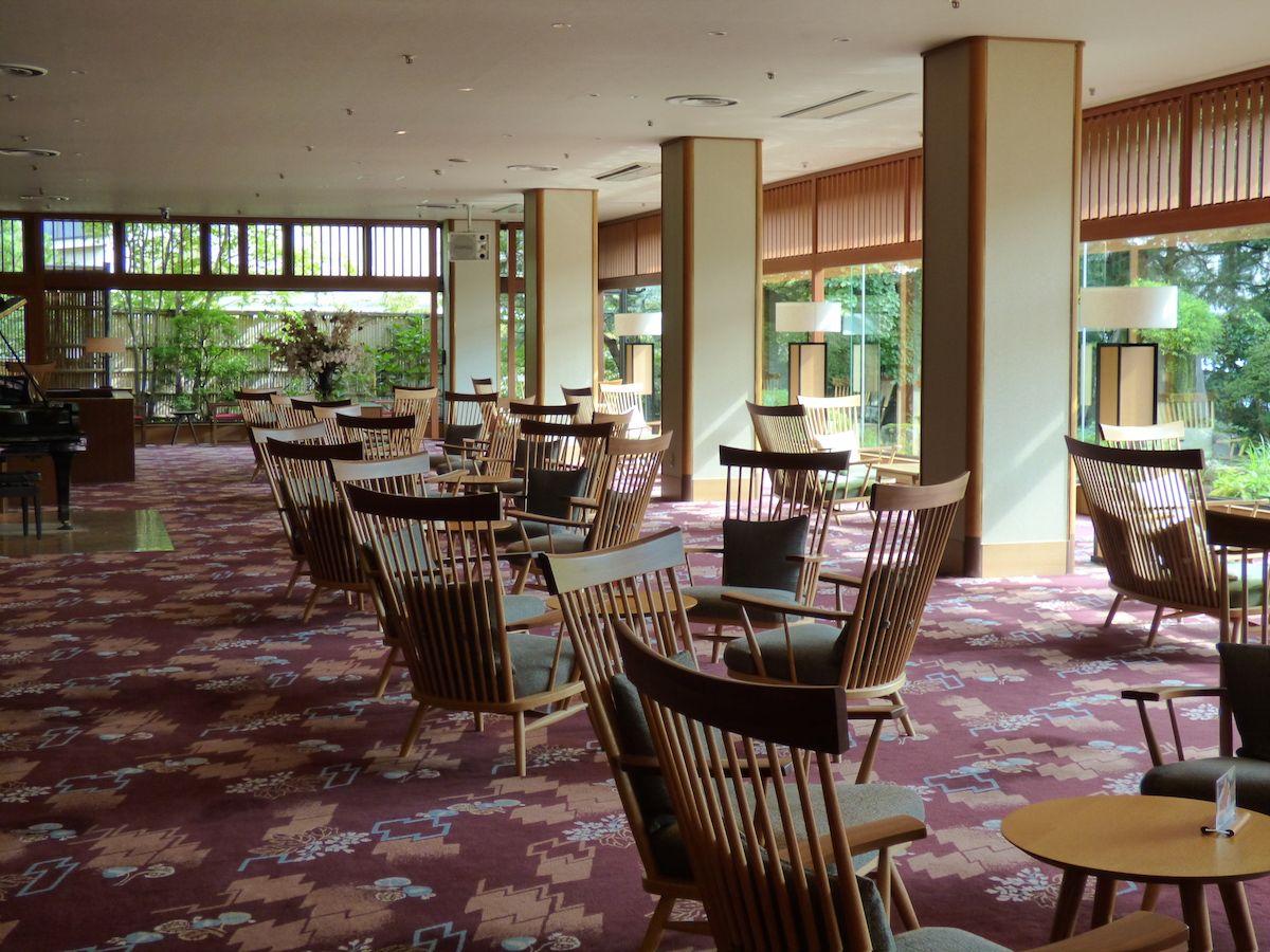ホテル内は全体的にゆったり。広い空間でくつろげる!