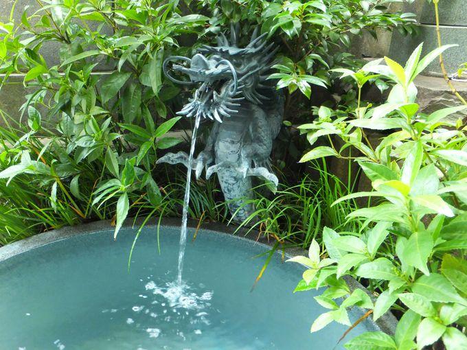 御札を水鉢に浮かべて祈願!「深川龍神」に願いを届けよう