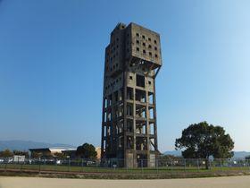 福岡空港からわずか20分!圧巻の廃墟「旧志免鉱業所竪坑櫓」|福岡県|トラベルjp<たびねす>