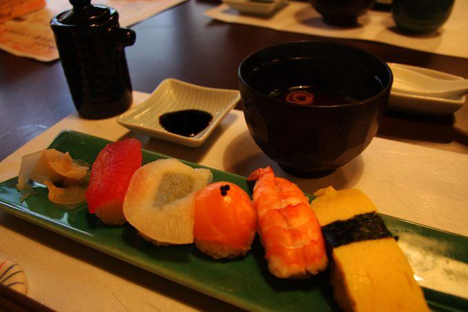 料理の〆はお寿司