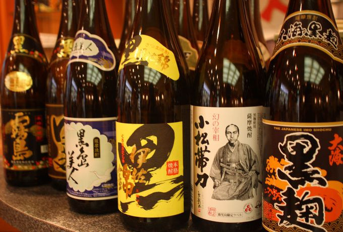 鹿児島名産の芋焼酎がなんと60種類以上!