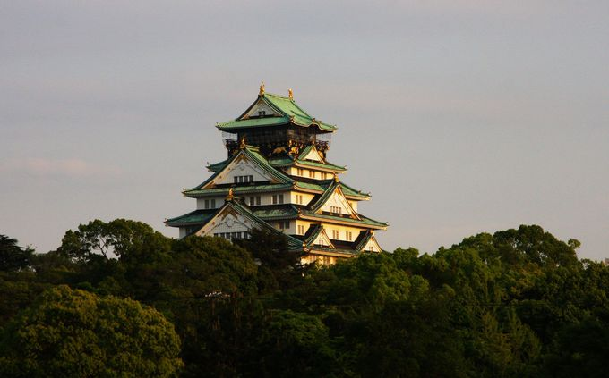 大阪城激写のチャンス